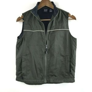 Gap Medium Nylon Anorak Vest Windbreaker Green